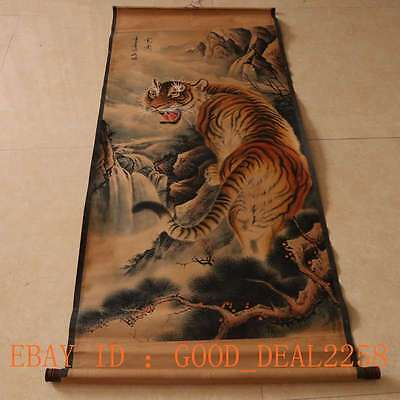 Old Chinese Painting Scroll Animal Painting - -- Titger