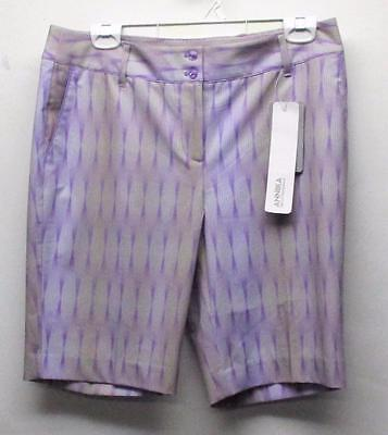 New Ladies Size 8 Annika Cutter & Buck DryTec Polyester Spandex golf shorts