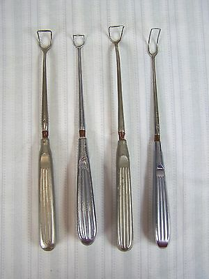 V Mueller Storz Retractors Stainless Medical Instruments Tools Lot Of 4 Vintage