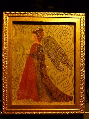 Gold Framed Gilded Angel Standing Print Wall Art Decor Made in Canada