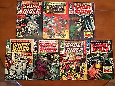 The Ghost Rider The World's Most Mysterious Western Hero! LOT 1-7 Marvel 1967