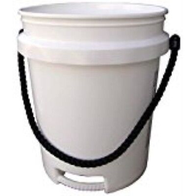 Pail 5gal White Rope Handle