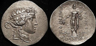 MORTOWN THRACE Maroneia Tetradrachm 200 BC Dionysos  Magnificent Portrait!