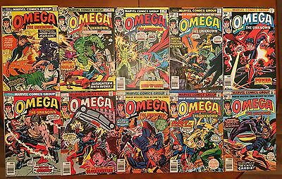 Omega the Unknown #1-10 LOT of 10  (1976-77, Marvel) Bronze Age High Grade!!