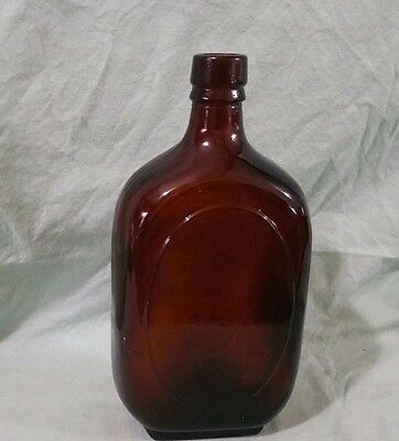 Vintage Apothecary Amber Glass Bottle Bottom Embossed 438 fcc 1 - Cork Top