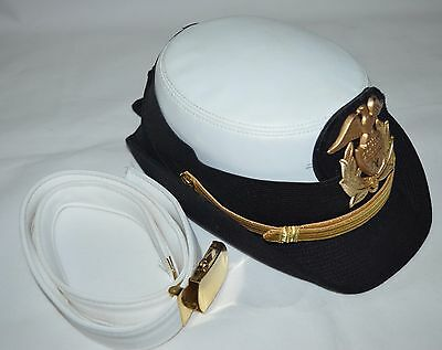 Vintage? Kingform Cap De Luxe New York Womens Size 21 1/2 Cap And Belt