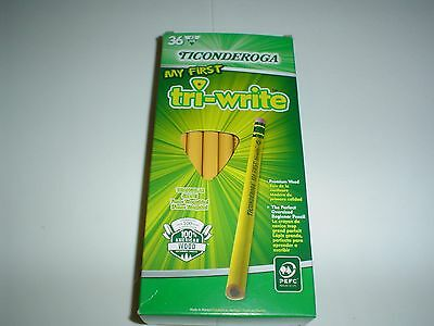 Ticonderoga My First Tri-Write #2 Pencils With Eraser Box of 36 #13082