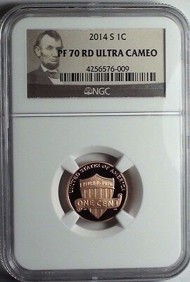 2014-S Lincoln Shield Cent NGC PF 70 RD ULTRA CAMEO *Portrait*  1c  #009