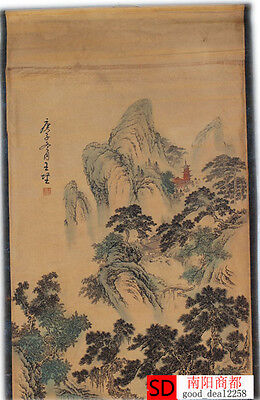 Chinese Collection Scroll Painting:Tang Yin Landscape Map