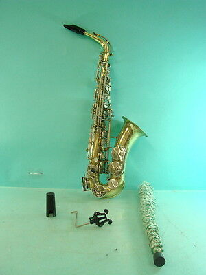 Vtg Armstrong Brass Saxophone Jazz Marching School Band Mouthpiece + Cloth