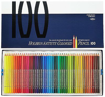 Holbein Artists Colored Pencil 100 colors set w/ Paper Box Case OP940