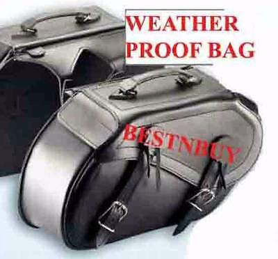 """SADDLE BAG Harley Style Leather Motorcycle BAG New UNIVERSAL FIT """"NEW"""""""