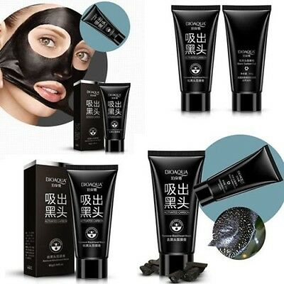 Facial Mask Nose Blackhead Acne Pore Deep Remover Cleaning  Strip Black Mud New