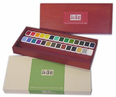 Holbein Shin Gansai 28colors Set Japanese style painting toning Solid Watercolor