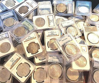 Estate Coin Lot U.S. Silver Morgan Dollar - 1 PCGS or NGC Certified MS63