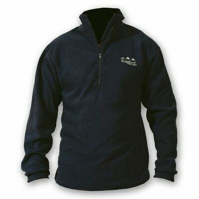 Ridgeline Micro Fleece Zip Hunting Top Black