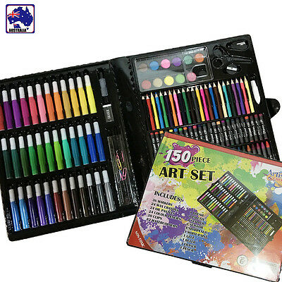 150pcs Children Drawing Painting Art Set Colour Pens Pencils Crayon SBPS67150