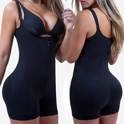 Women Hot Body Shaper Waist Cincher Underbust Corset Bodysuit Jumpsuit Shapewear