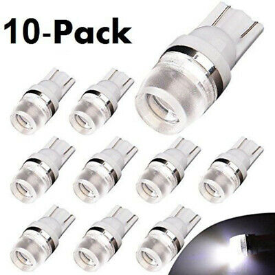 10pcs T10 W5W 192 168 194 2323 LED Car Wedge License Plate Light Bulb White Hot