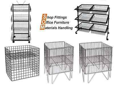 Wire Display Baskets and Stands