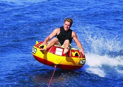Inflatable Towable Tube Boating Raft 1 Person Rider Water Lake Outdoor Sport