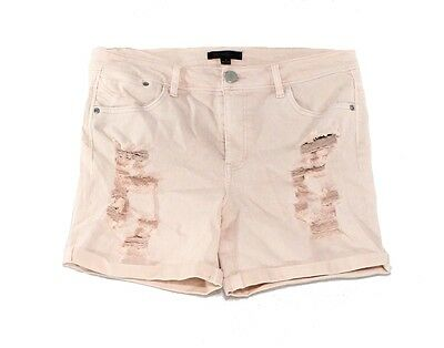 Fire Los Angeles NEW Pink Size 5 Junior Distressed Stretch Denim Shorts $26 315