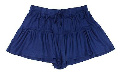 Lily White NEW Solid Navy Blue Size XL Junior Pull-On Knit Shorts $29 968