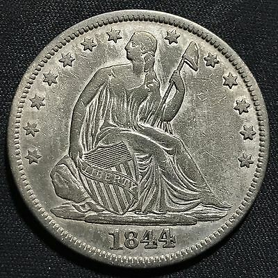 1844-P Seated Liberty Half Dollar **BETTER DATE COIN**  XF Cleaned