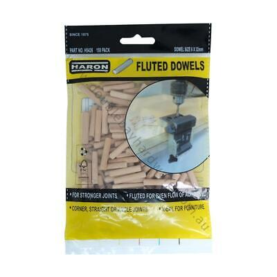 Haron Fluted Dowels 6mm X 32mm 150pcs Ideal For Furniture and Joints H5426