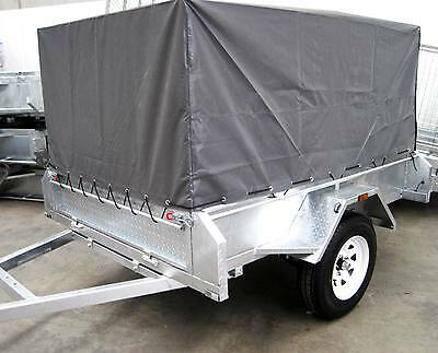 7X5 Camping Trailer Galvanised  With Cage And Cover