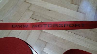 BMW RED MOTORSPORT SEAT BELTS E30/E34/E36/E46/ M3 M5 MPower ALL BMW ONLY WEBBING
