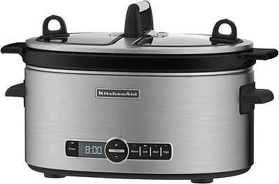 NEW IN BOX! KitchenAid Artisan Stainless Slow Cooker 5.7L (KSC6222) FREE POSTAGE