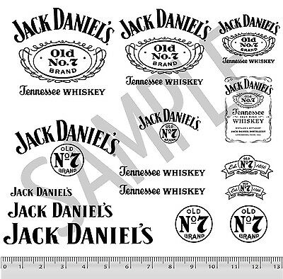 Jack Daniel's Code 3 Decal Stickers 15 PACK Sheet Black 1:24 1:18 Diecast Cars