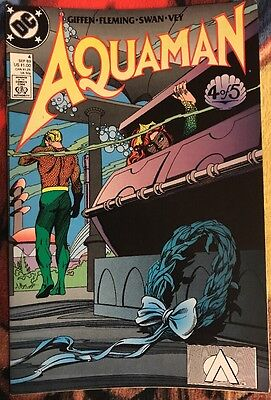 DC AQUAMAN (1989 Series) 4 FN ***$3.98 UNLIMITED SHIPPING***
