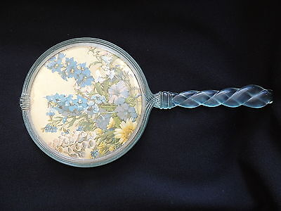 VINTAGE HAND MIRROR-c1950s-PLASTIC & GLASS-JUST LOVELY-DECEASED ESTATE