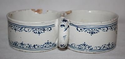 Antique 18th Century Delft Blue/White Pottery - Cruet Stand/Holder