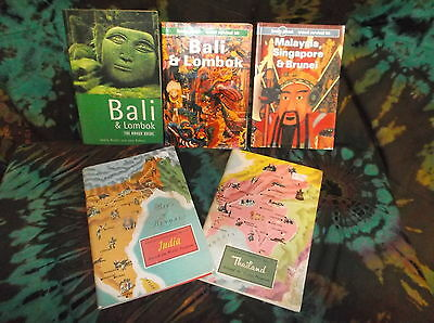 Look! Book Bulk Lot - Travel- Lonely Planet - Bali - Lombok - Maylasia -Sb05