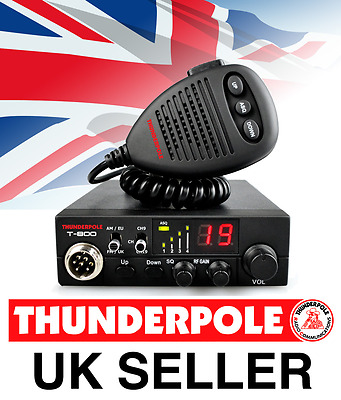 Thunderpole T-800 12v CB Radio | 27MHz AM/FM Mobile 12 Volt Transceiver