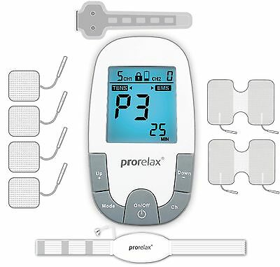 prorelax TENS/EMS Super Duo Plus with Accessories Set (Eligible for VAT relief i
