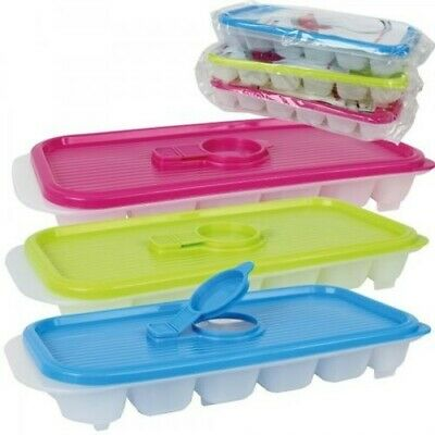 Ice Cube Holder with Lid Cube Tray Plastic