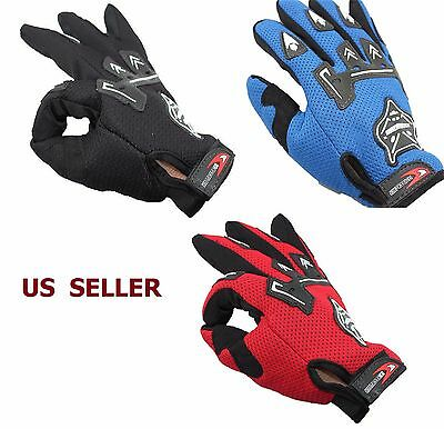 Full Finger Cycling Gloves Men Shockproof MTB Bike Bicycle Foxes Pattern Breatha