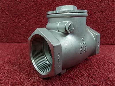 "Stainless Steel Swing Check Valve Non Return Valve 2"" BSP DN50"