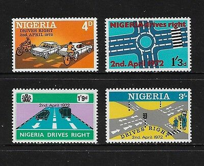 NIGERIA - mint 1972 Change to Driving on Right, No.2, set of 4, MNH MUH