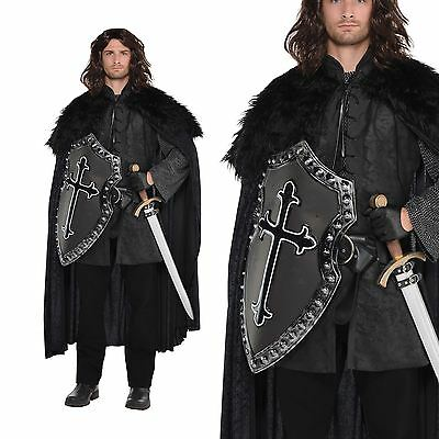 Game Mens Thrones Fur Cloak Nights Watch Fancy Dress Costume Cape Accessory