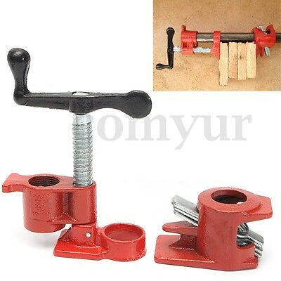 Heavy Duty Quick Release 3/4'' Wood Gluing Pipe Clamp For Woodworking Cast Iron