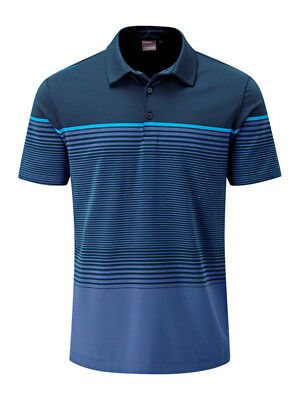 Ping Ronan Tailored Fit Polo - Navy/Deep Cobalt