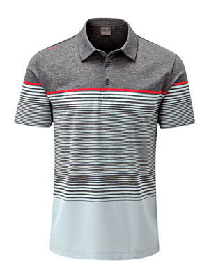 Ping Ronan Tailored Fit Polo - Asphalt Marl/Silver