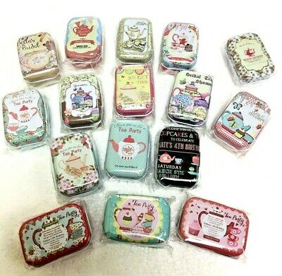 Collectables Pill Box Tin Tablet Storage Pill Case Trinket Container DD