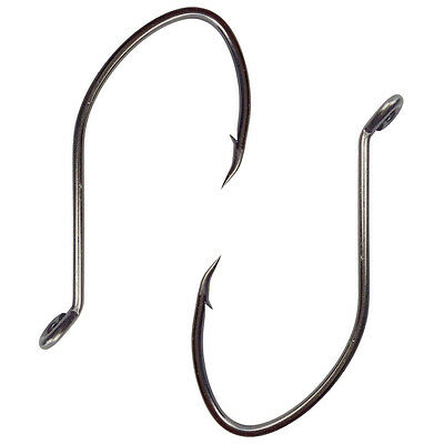 Lots High Carbon Steel Fishing Hooks Black Gap Catfish Saltwater Bait Fishhooks