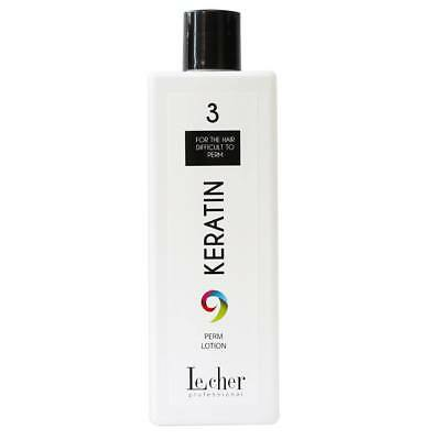 Lecher Professional No3 Keratin Perm Lotion for Hair Difficult to Perm  500ml